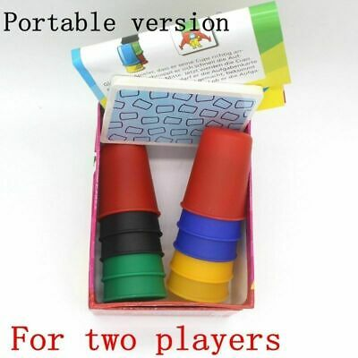 Card Games Speed Cups Playing Cards Game Family Children Kids Board Games Funny