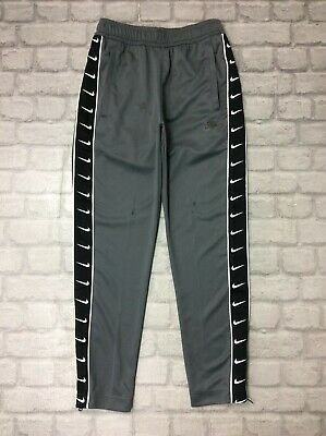 Nike Mens Uk Xs Tape Poly Track Pants Grey Joggers J