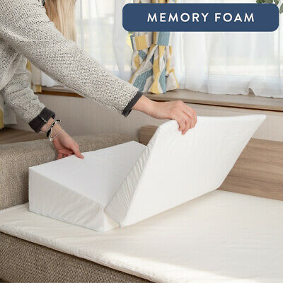 Memory Foam Travel ✔ Folding Acid Reflux Bed Wedge - Travel Bag ✔ UK Made ✔