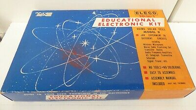 Eleco 20 In 1 Vintage Science Educational Electronic Kit Solar Cell Microphone