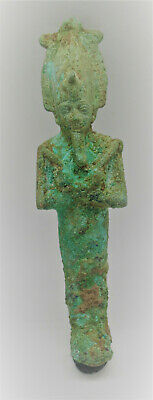 Scarce Circa 1000-500Bce Ancient Egyptian Bronze Osiris Statuette 15/16Cm