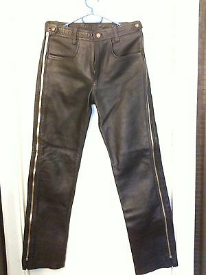 Lederhose leather trousers Gambali aw-772 con 2 strisce blu IN PELLE CHAPS