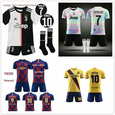 UK 2019/2020 Football Kits Soccer Suits Kids Adults Jersey Strip Sports Outfit