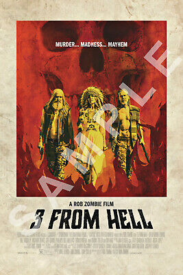 3 FROM HELL 12x18 MOVIE POSTER ROB ZOMBIE THE DEVILS REJECTS SHERI MOON ZOMBIE 1