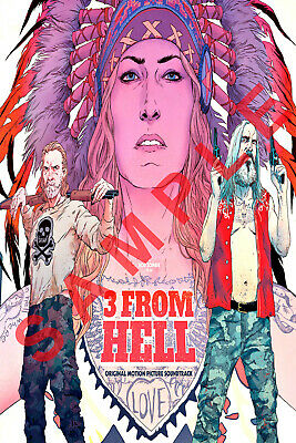 3 FROM HELL 12x18 MOVIE POSTER ROB ZOMBIE THE DEVILS REJECTS SHERI MOON ZOMBIE 5