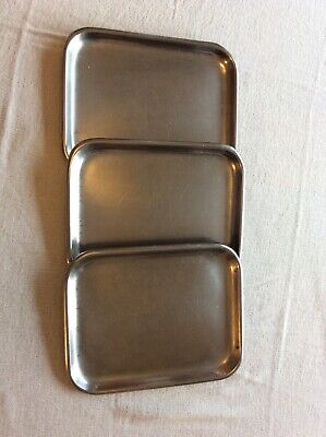 Stainless steel butchers trays X12