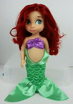 "Disney Authentic Little Mermaid Ariel Animators Collection Toddler Doll 16/"" New"