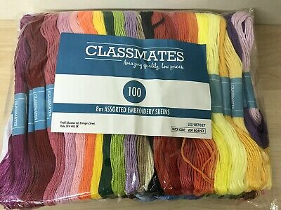 Embroidery Skeins 8m • Pack Of 100 Assorted Colours