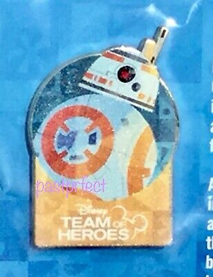 Disney LE Pin D23 Expo 2019 Star Wars Droid BB-8 Team of Heroes on Card