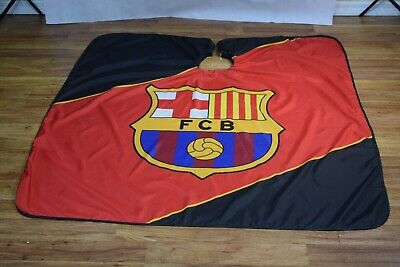 "FC Barcelona Barber hair cutting and styling cape 55""X60"""