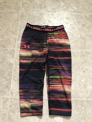 Girls Under Armour Heatgear Compression Pants Capris  YMED. Youth Medium