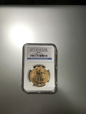 2006-W $50 Gold American Eagle Reverse Proof 20th Anniversary NGC PF70
