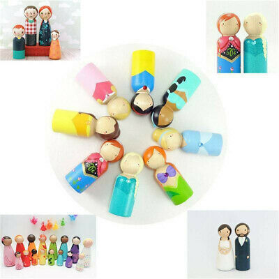 40pcs 43cm Female Male Wooden People Bodies Peg Doll Wedding Cake Topper DIY
