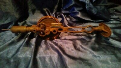 Antique Hand Drill With Level &Shoulder Brace Great Condition Collectable Item