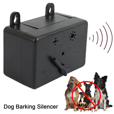 Outdoor Ultrasonic Anti-Barking Device Dog Bark Control Sonic Silencer Tools USA