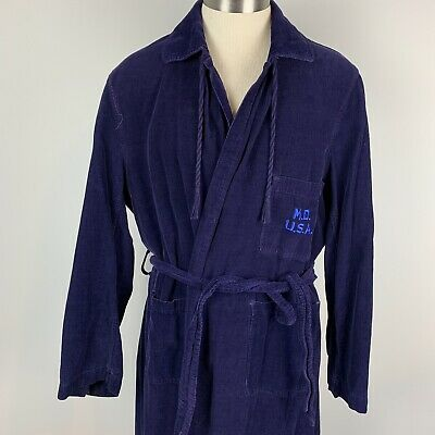VTG US Army WW2 Medical Department blue corduroy recovery medic doctor robe