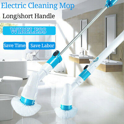 Auto Cordless Electric Power Scrubber Brush Rotating Bathtub Tile Cleaning Tool