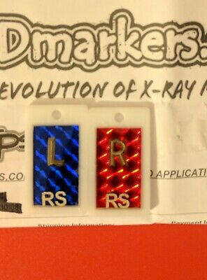 Premium X-Ray Markers (R S Initials) With Reusable X-Ray Marker Adhesive Tape