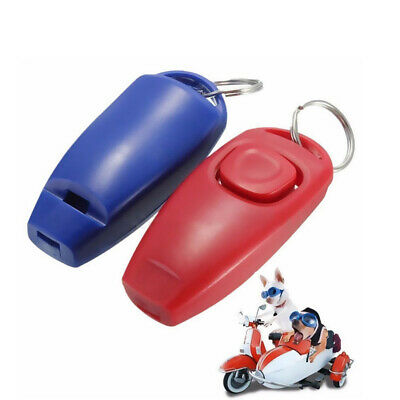 Clicker with Whistle For Dog Training Education Dog Click Cat Training C3H2 B8W1