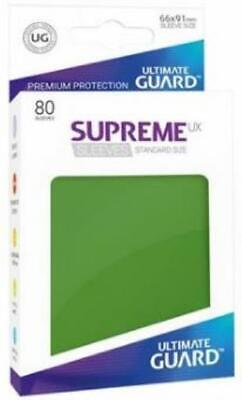 Ultimate Guard Standard Sleeves Supreme UX - Green (10 Packs of 80) MINT