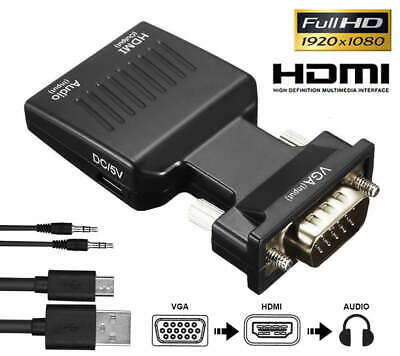 VGA to HDMI Male to Female Video Adapter Cable Converter with Audio HD 1080P AU
