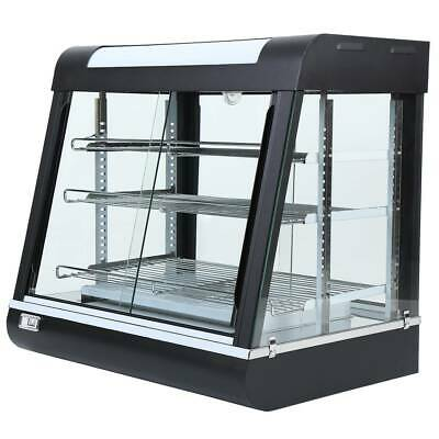 Commercial Cake Dessert Food Warmer Display Cabinet Tempered Glass Food Showcase