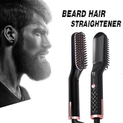 NEW 3in1 Beard Hair Straightener Quick Short/Long Hair Styler Multifunctional AU