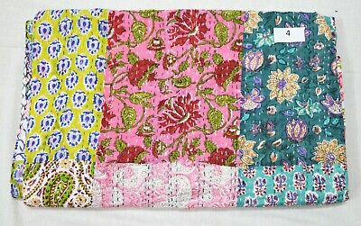 Amazing Beautiful Reversible Patchwork Quilt With Stripes by Ib Laursen