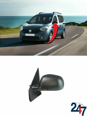 Primed Wing Side Mirror Heated Convex LH Fits DACIA Dokker Lodgy 963025005R