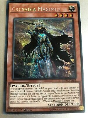 YUGIOH MP19-EN081 CRUSADIA MAXIMUS Prismatic Secret Rare 1st Edition