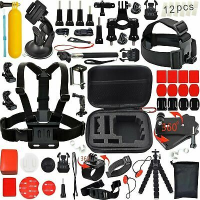 GoPro Accessories Kit Action Camera Accessory Kit Chest Strap Head Mount + Case