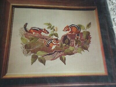 Vintage Bucilla Needlecraft 'Woodland Friends' Complete Needlecraft Kit 20 x 24""