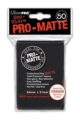 Ultra Pro Pro-Matte Deck Protector Sleeves Pack: Black 50ct