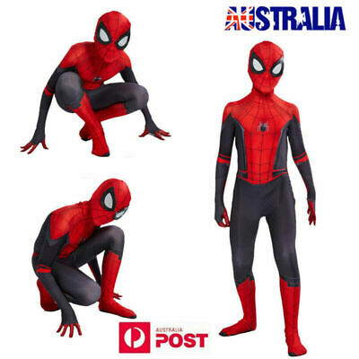 Kids Mask Spiderman Into the Spider-Verse Costume Miles Morales Cosplay