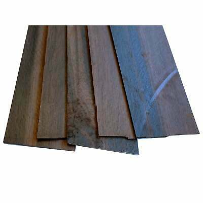 Turners' Mill African Ebony Constructional Veneers - 500x50x2mm, Pack of 5