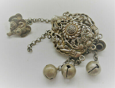 Post Medieval Antique Silver Openwork Snuff Bottle Beautiful Item