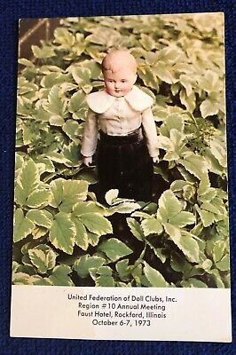 United Federation of Doll Clubs Inc Rare Convention Card 1973 Rockford IL