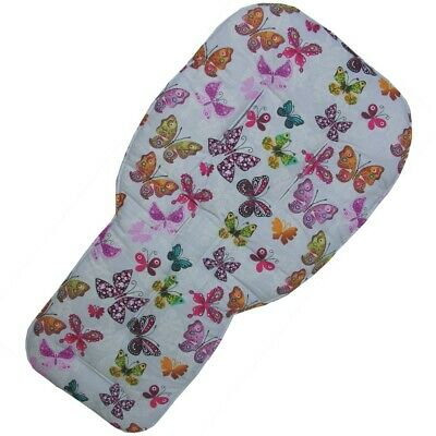 Butterflies design Seat Liners with Pink reverse side for Bugaboo Pushchairs