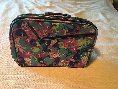 Vintage 60's 1960s Groovy Flower Power Mod Psychedelic Suitcase 70's 1970s