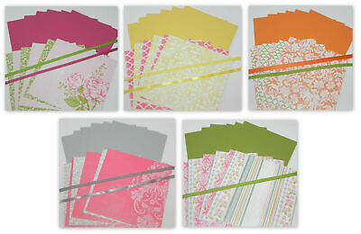 Victorian Gardens 5 Sets 6 X 6 Double Sided Designer Paper Cardstock Stampin Up