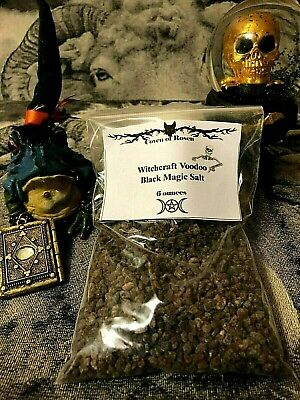 Large Witchcraft Voodoo Black Magic Salt 6 oz Made By Witches  Casting~ Rituals