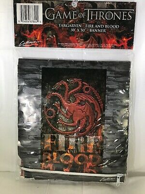 "Game of Thrones Targaryen Fire and Blood 30"" x 50"" Banner Calhoun New"