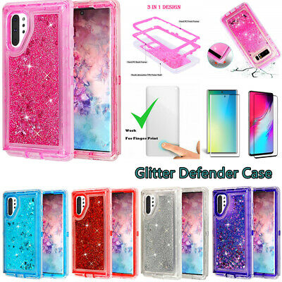 For Samsung Galaxy Note 10+ Plus Glitter Defender Case Screen Fits Otterbox Clip