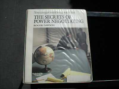Roger Dawson* The Secrets of Power Negotiating * Nightingale Conant Tapes
