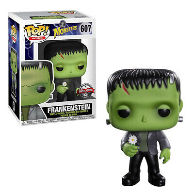 Funko Pop! Movies #607 - Monsters - Frankenstein with Flower *Special Ed Sticker