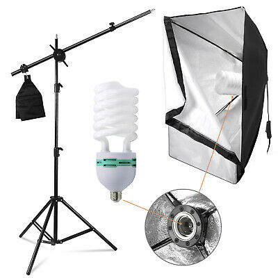 85W Boom Arm Softbox Light Stand Continuous Lighting Kit for Photo Video Studio
