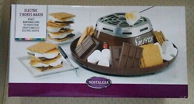 Nostalgia Electric S'Mores Maker - Roast Marshmallows over a Flameless Heater!