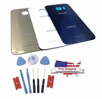 For Samsung Galaxy S6 G920 New Battery Cover Glass Back Door Replacement Case
