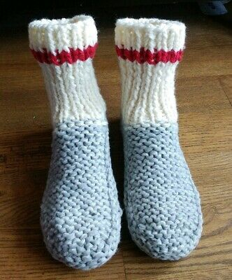 Hand-Knit Slippers/Socks/Booties, durable, warm comfortable Phentex mix