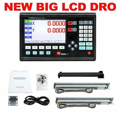 Complete 2 Axis Dro Set/Kit Digital Readout Display SNS-2V with 2 Pcs 5U Micron